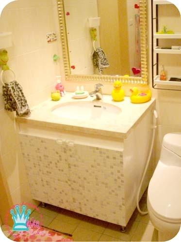 改造成功的浴櫃