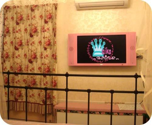 可愛的粉紅電視