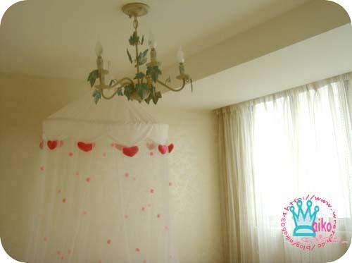 吊燈與蚊帳