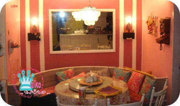 餐廳貴氣三色壁面