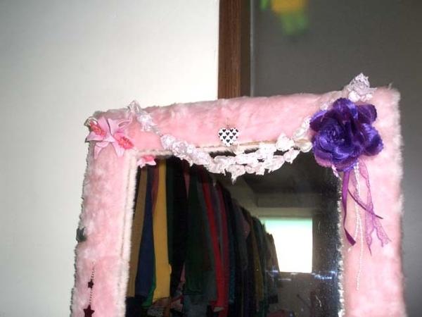 粉紅毛毛鏡