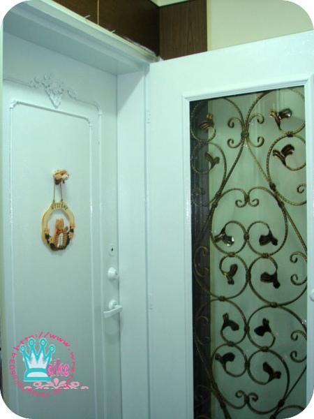 鍛造門漆白
