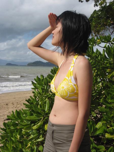 生平第一次穿bikini