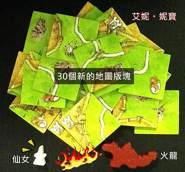 Board Game 桌遊 Carcassonne 卡卡頌 The Princess and the Dragon2.JPG