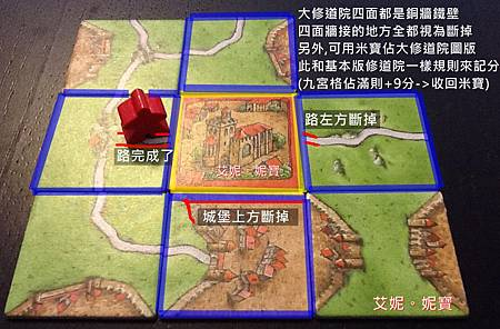 Board Game 桌遊 Carcassonne 卡卡頌 Abbey & Mayors6.JPG