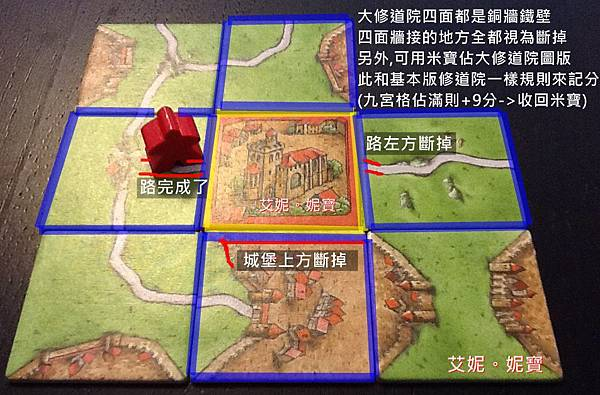 Board Game 桌遊 Carcassonne 卡卡頌 Abbey & Mayors6.JPG