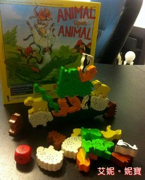AININIBO艾妮妮寶_Board Game 桌遊 Animal Upon Animal 動物疊疊樂1