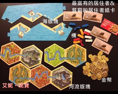 AININIBO艾妮妮寶_Board Game 桌遊 Catan 卡坦島 Traderes & Barbarians 野蠻人擴充場景2河流1