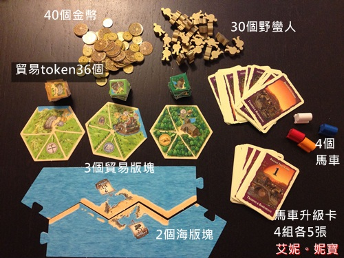 AININIBO艾妮妮寶_Board Game 桌遊 Catan 卡坦島 Traderes & Barbarians 野蠻人擴充30