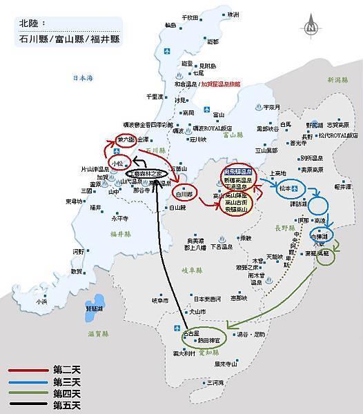 北陸地圖2