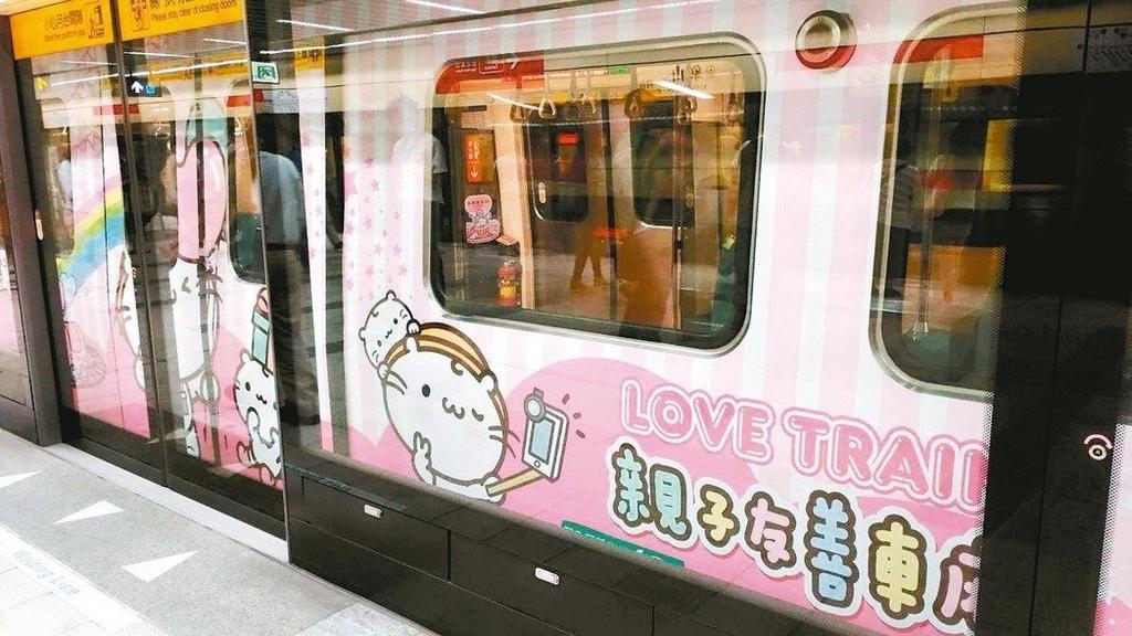 北捷宣傳大使麻吉貓列車