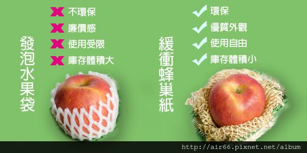 蜂巢紙緩衝取代水果袋.jpg
