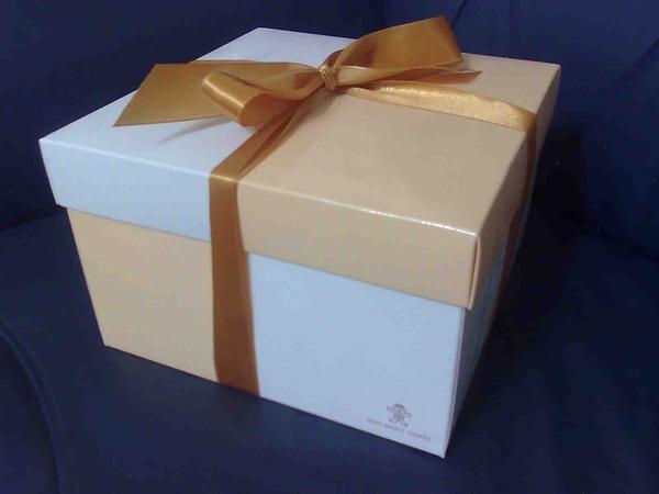 我姐買回來的據說很貴的巧克力蛋糕的盒子