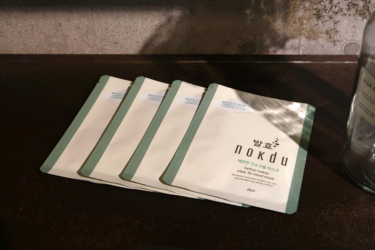 韓國nokdu發酵綠豆系列 保濕深層潔面乳 氧氣微米泡泡面膜 使用心得 (9).JPG