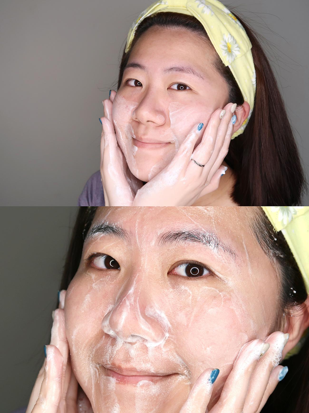 韓國nokdu發酵綠豆系列 保濕深層潔面乳 氧氣微米泡泡面膜 使用心得 (7).JPG