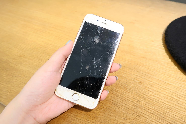 Jill螢幕破碎的iPhone-士林iPhone維修