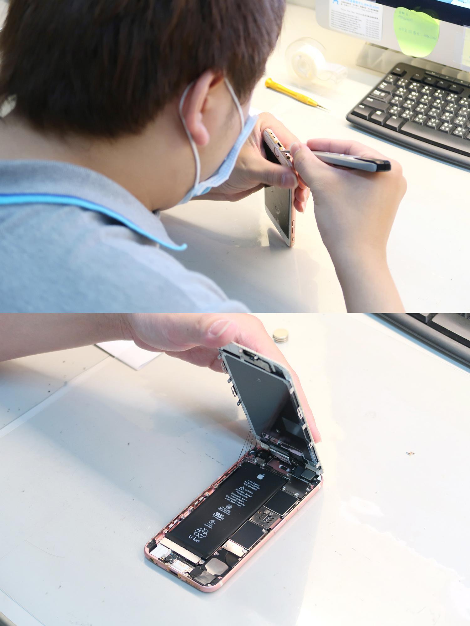 iPhone螢幕破裂維修過程-士林iPhone維修推薦