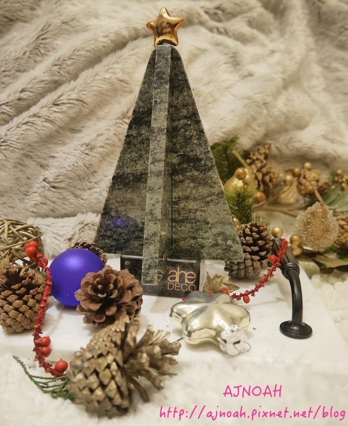 桌上型小耶誕樹 聖誕佈置 花崗石