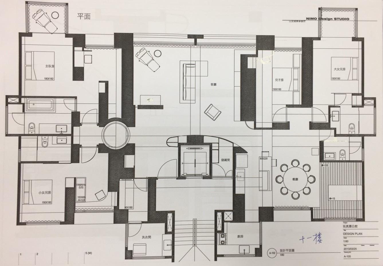 台北內湖 AIT 四房裝潢平面圖
