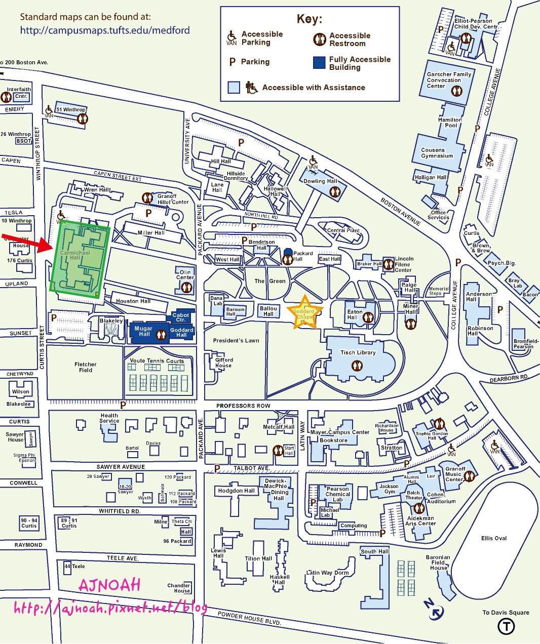 Tufts University map