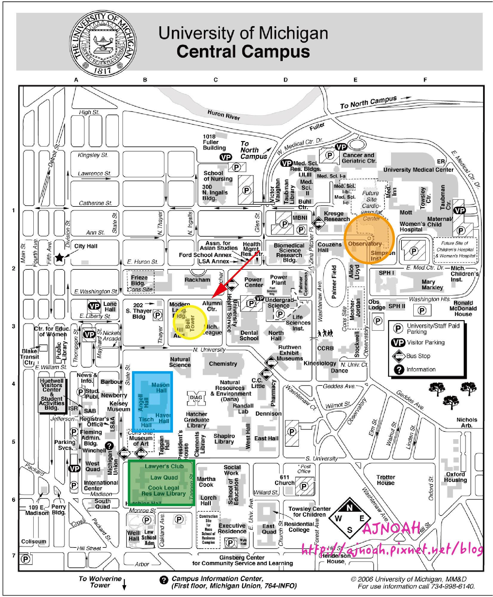 University of Michigan-Ann Arbor map