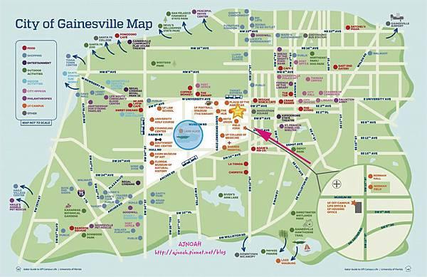 university of florida map