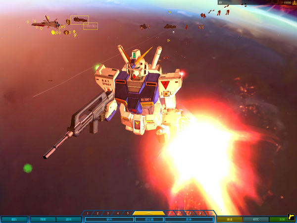 NT1机关炮发射