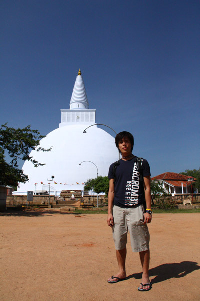 我在 Anuradhapura, Sri Lanka