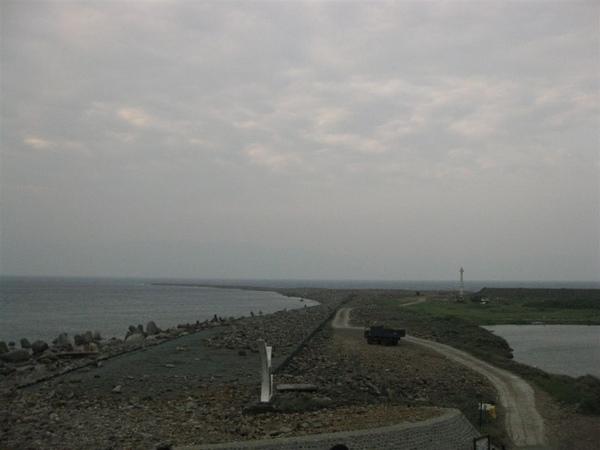 龜山島的龜尾。冬天龜尾朝東擺