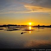 安平德陽艦上拍的夕陽