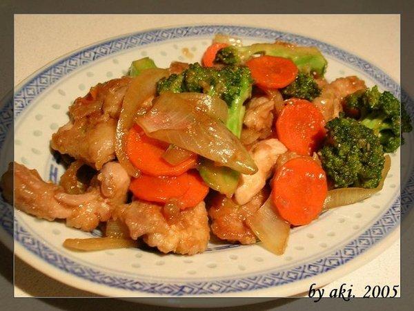 炒花椰蠔油雞丁