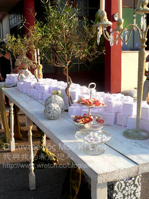 喜糖裝飾桌