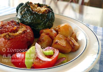 鑲米番茄 青椒 yemista