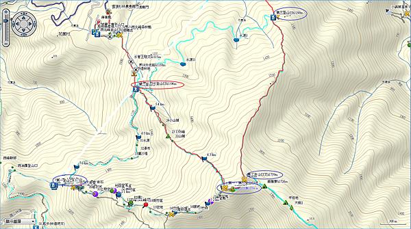 油羅山O型路線_第二登山口上_第三登山口下.png