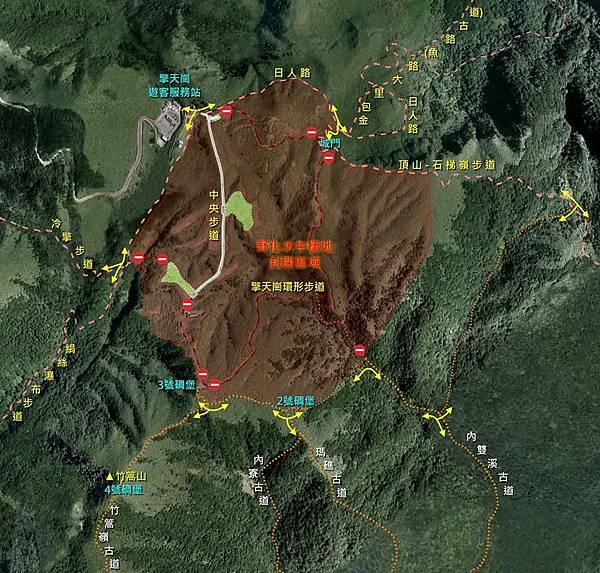 擎天崗草原封閉區域及步道路線示意圖.jpg
