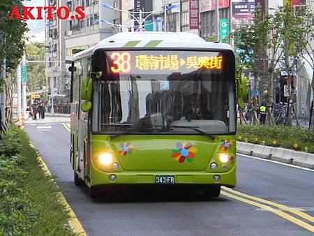 借調12路配車 38路 343-FR
