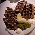 香蕉奇異果巧克力鬆餅