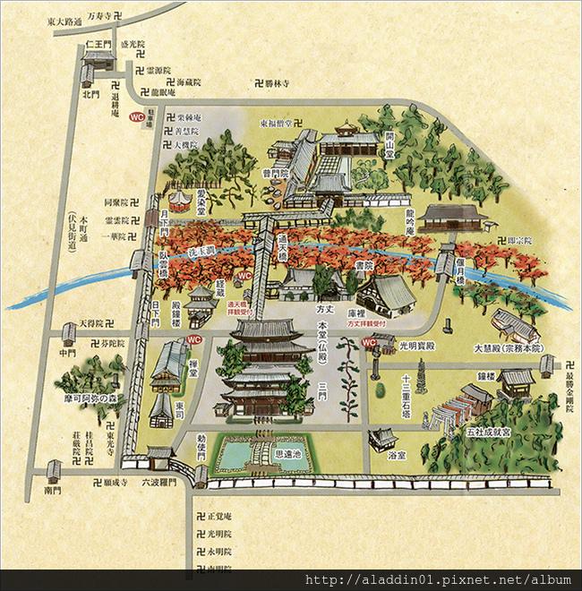 東福寺案內圖