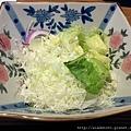 杏子豬排-高麗菜絲