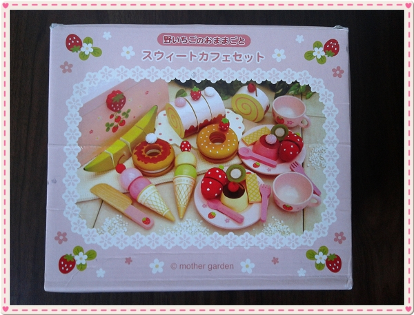 Mother Garden木製粉紅草莓下午茶蛋糕切切樂辦家家酒組2