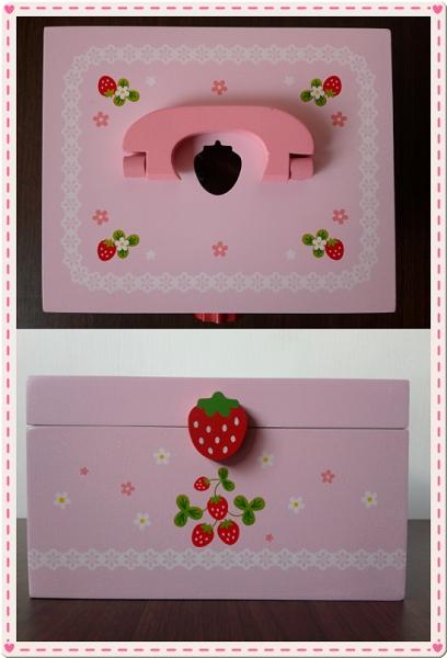 Mother Garden木製粉紅草莓下午茶蛋糕切切樂辦家家酒組4