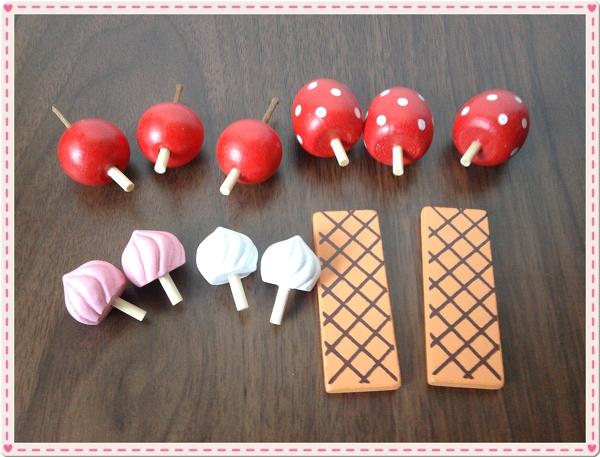 Mother Garden木製粉紅草莓下午茶蛋糕切切樂辦家家酒組8