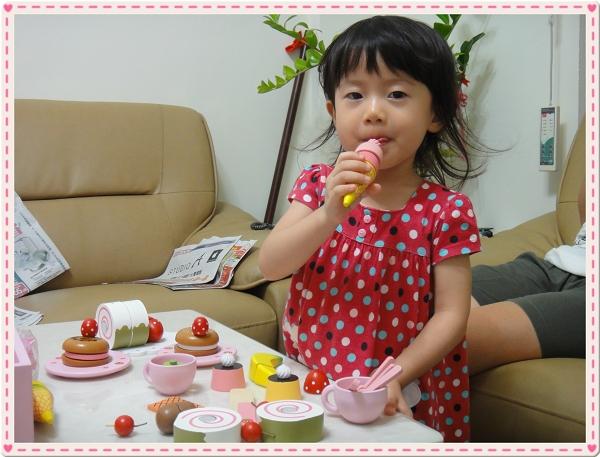 Mother Garden木製粉紅草莓下午茶蛋糕切切樂辦家家酒組13