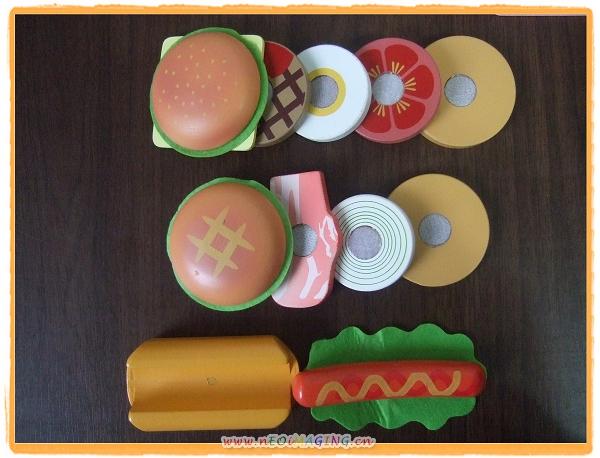 Mother Garden木製粉紅草莓漢堡薯條組5