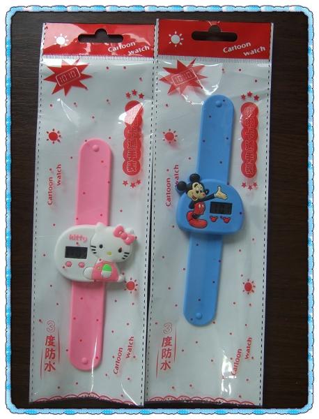啪啪卡通手錶[Hello Kitty&Micky Mouse]
