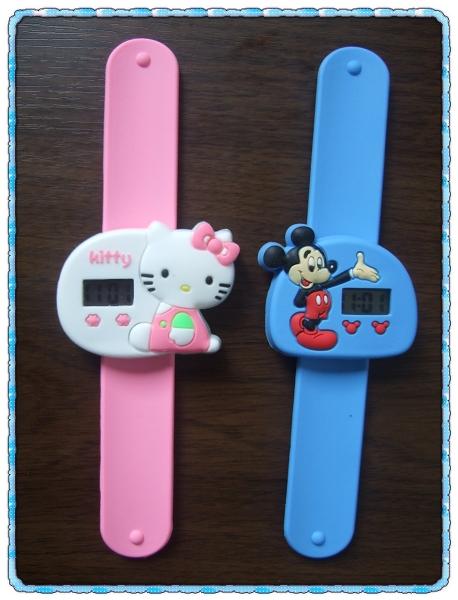 啪啪卡通手錶[Hello Kitty&Micky Mouse]2