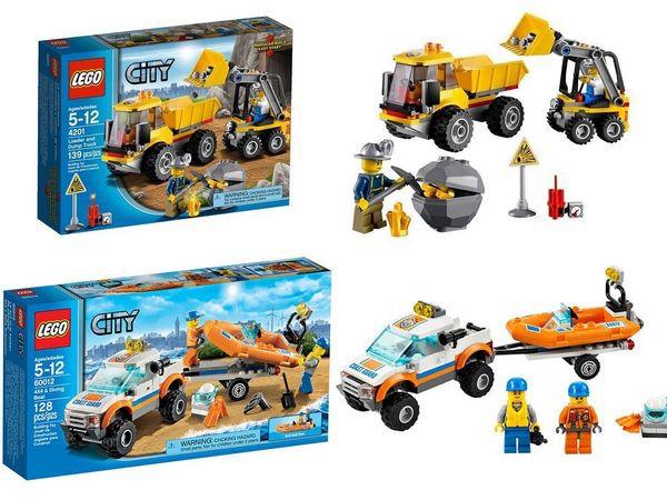 LEGO樂高CITY城市系列60012搜救艇與拖車&4201裝載機和翻斗車[恆宇七歲生日禮物]1