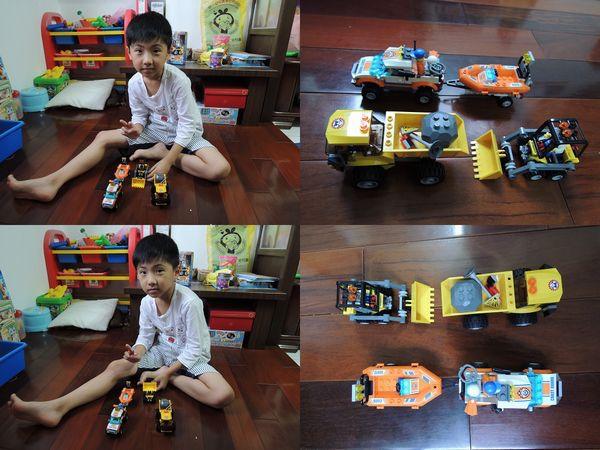 LEGO樂高CITY城市系列60012搜救艇與拖車&4201裝載機和翻斗車[恆宇七歲生日禮物]22