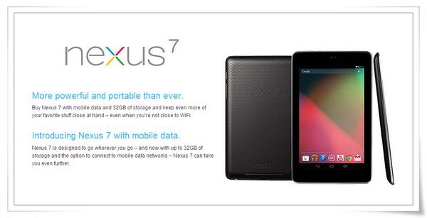 Google Nexus 7平板電腦[ASUS華碩]7