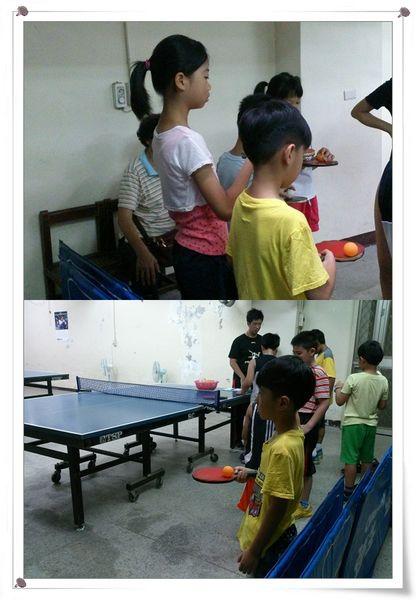 復興國小桌球隊暑假育樂營第一週2